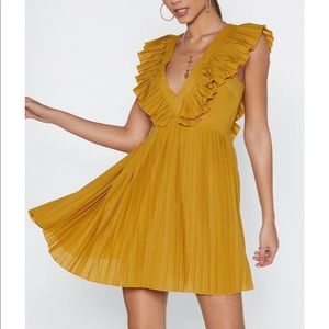 Nasty gal sweet and low ruffle dress